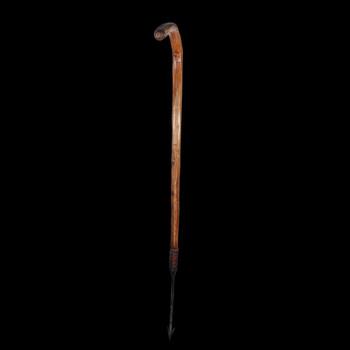 An Unusual Harpoon Walking Stick Circa.19th Century.
