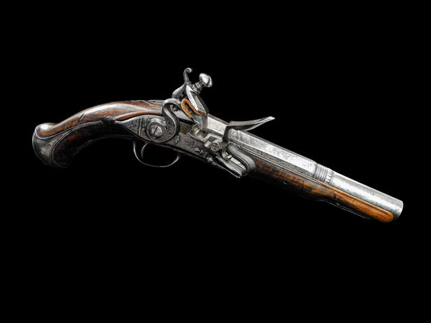 A Spanish 18-Bore Miguelet Pistol Deop Ripoll C.1790.