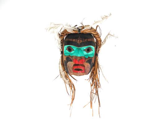 A Kwakwaka'wakw Thunderbird Mask Carved by Manny Georgeson C. 21st Century  Item: 126