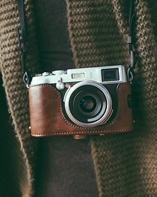 Caméra en cuir