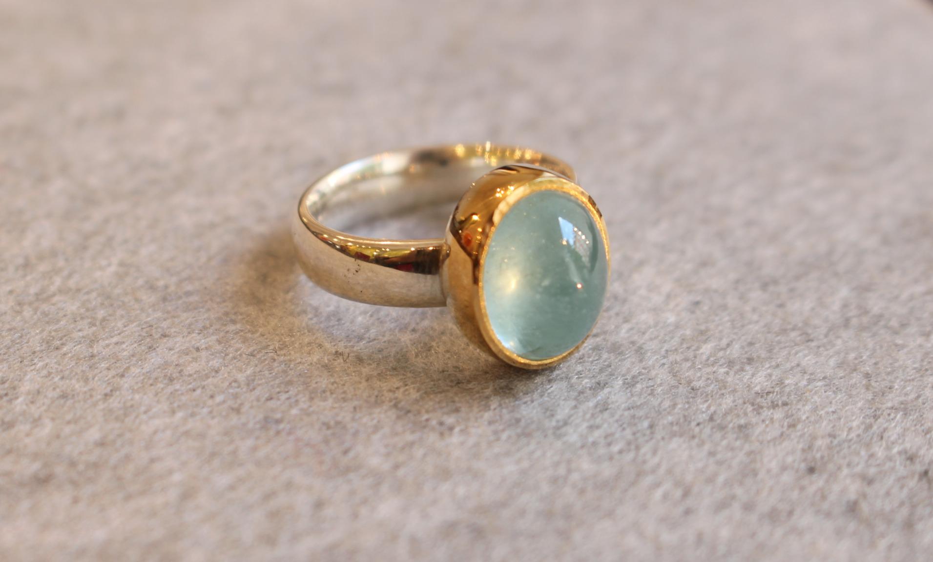 Aquamarin-Ring