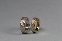 750/- Gelbgold und Silber