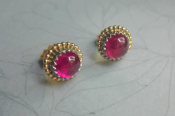 pink Turmalin Stecker
