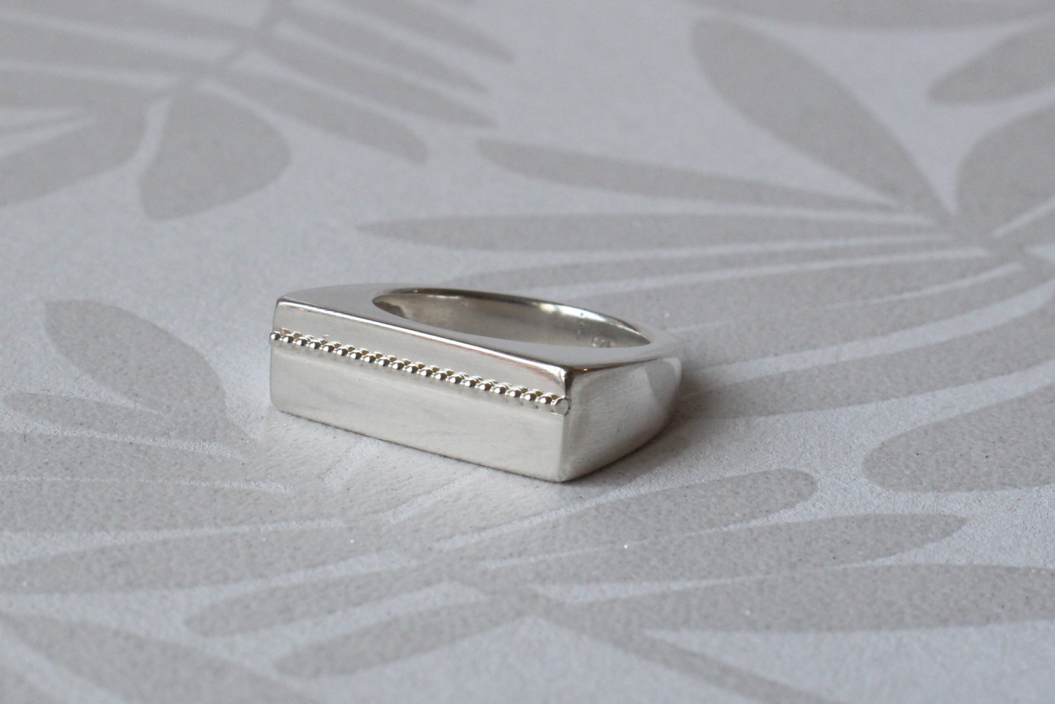 Silberring mit Perldraht