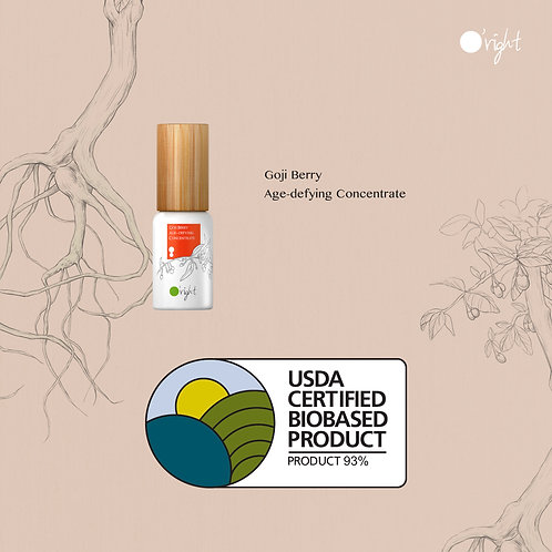 O'right Goji Berry Age-defying Concentrate  usda cerfitied biobased product