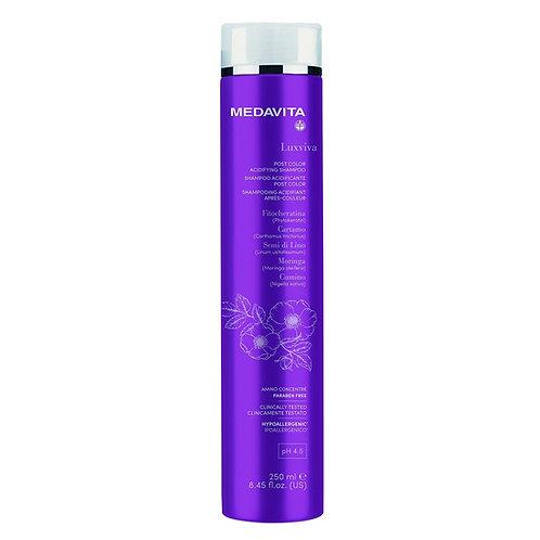 Medavita Luxviva post color acidifying shampoo 250ml - gekleurd haar