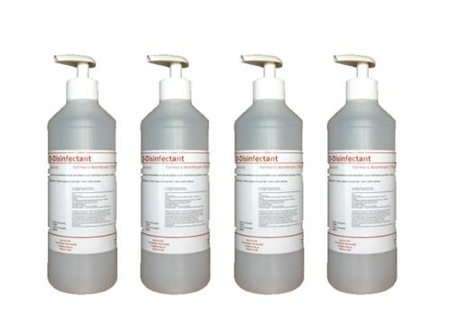 12x D-Disinfectant ontsmettende handalcohol 70% - 250ml pomp