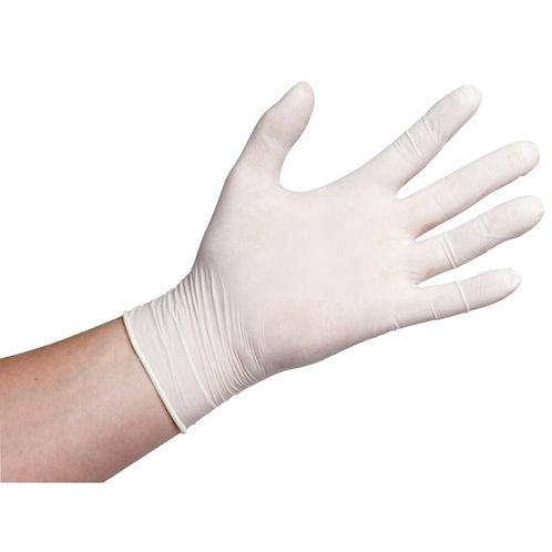 Wegwerphandschoenen Latex Poedervrij 100st. wit medium