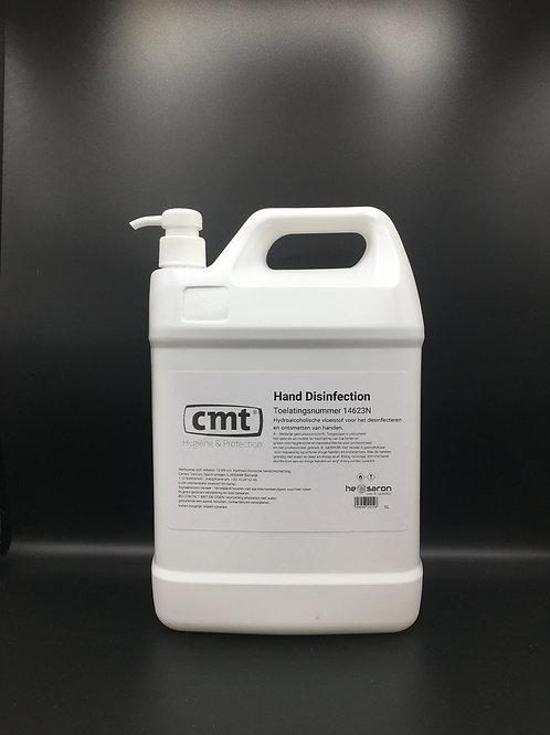 CMT Hand Disinfection 5L met pomp vloeibare handalcohol desinfecterende handgel navul