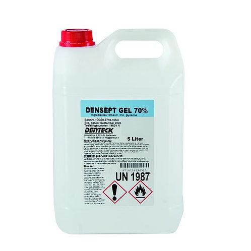 Desinfecterende handgel navulling Denteck Densept Gel 70% 5 Liter bidon.