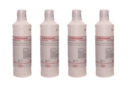 volumekorting 50x Desinfecterende alcohol handgel D-Disinfectant 70% - 250ml klikdop of pomp 4.25€/st.