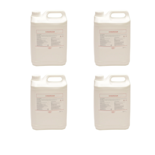 4x Desinfecterende handalcohol navulling D-Disinfectant 70% alcohol 5 L