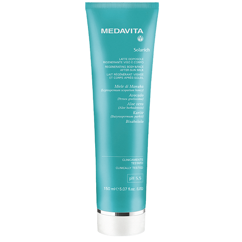 Medavita Solarich UV protectie Regenerating body & face after sun milk 150ml