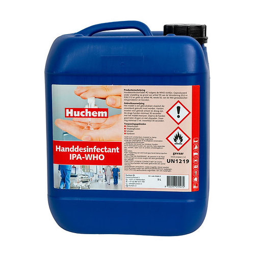 Huchem IPA - WHO vloeibare handdesinfectie 5L