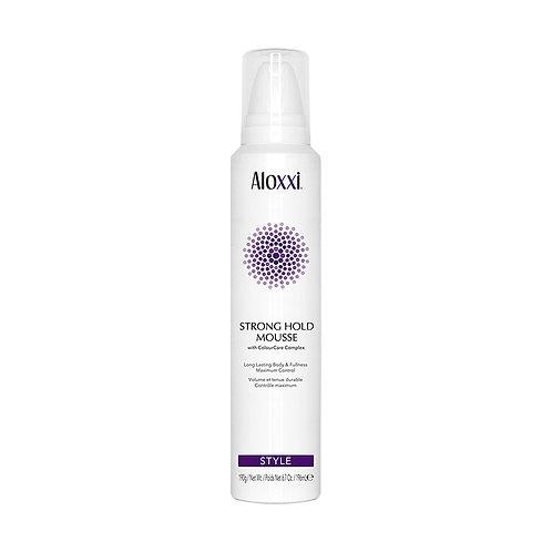 aloxxi strong hold mousse verstevigende haarmousse voor gekleurd haar styling volume