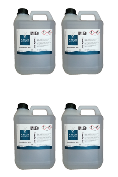 4x Aysun Welness desinfecterende hand alcohol 70% - 5L