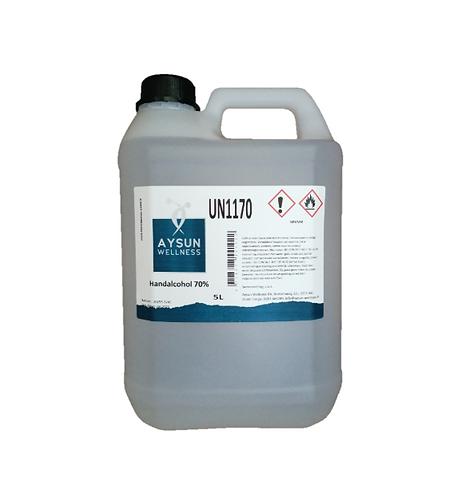 Aysun Welness navul handalcohol 70% 5L 5 liter navulling