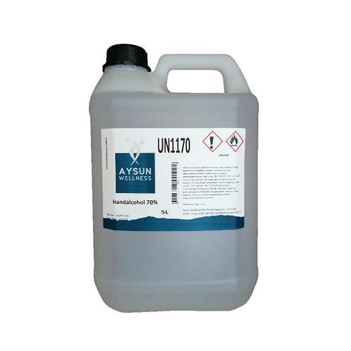 Desinfecterende handgel navulling Aysun Welness (NL) 70% 5 liter bidon.