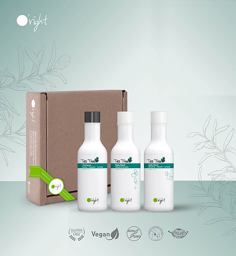 O'right 100ml Tea Tree Set: shampoo, handwash, bodywash