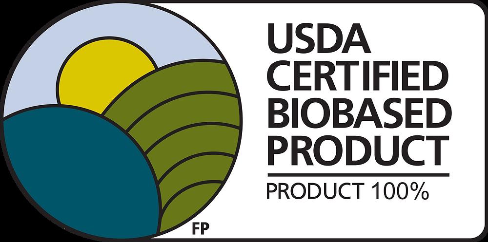 logo usda certified biobased product voor o'right natuurlijke haarverzorgingsproducten