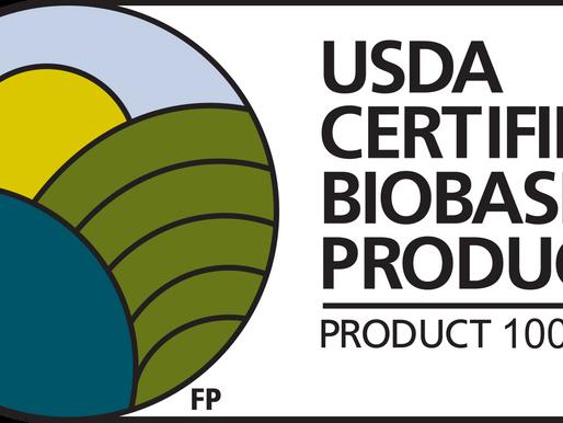 O'right producten zijn USDA Certified Biobased