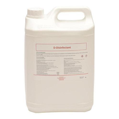 Desinfecterende handalcohol navulling D-Disinfectant 70% alcohol 5 Liter