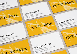 Cutty Sark business card