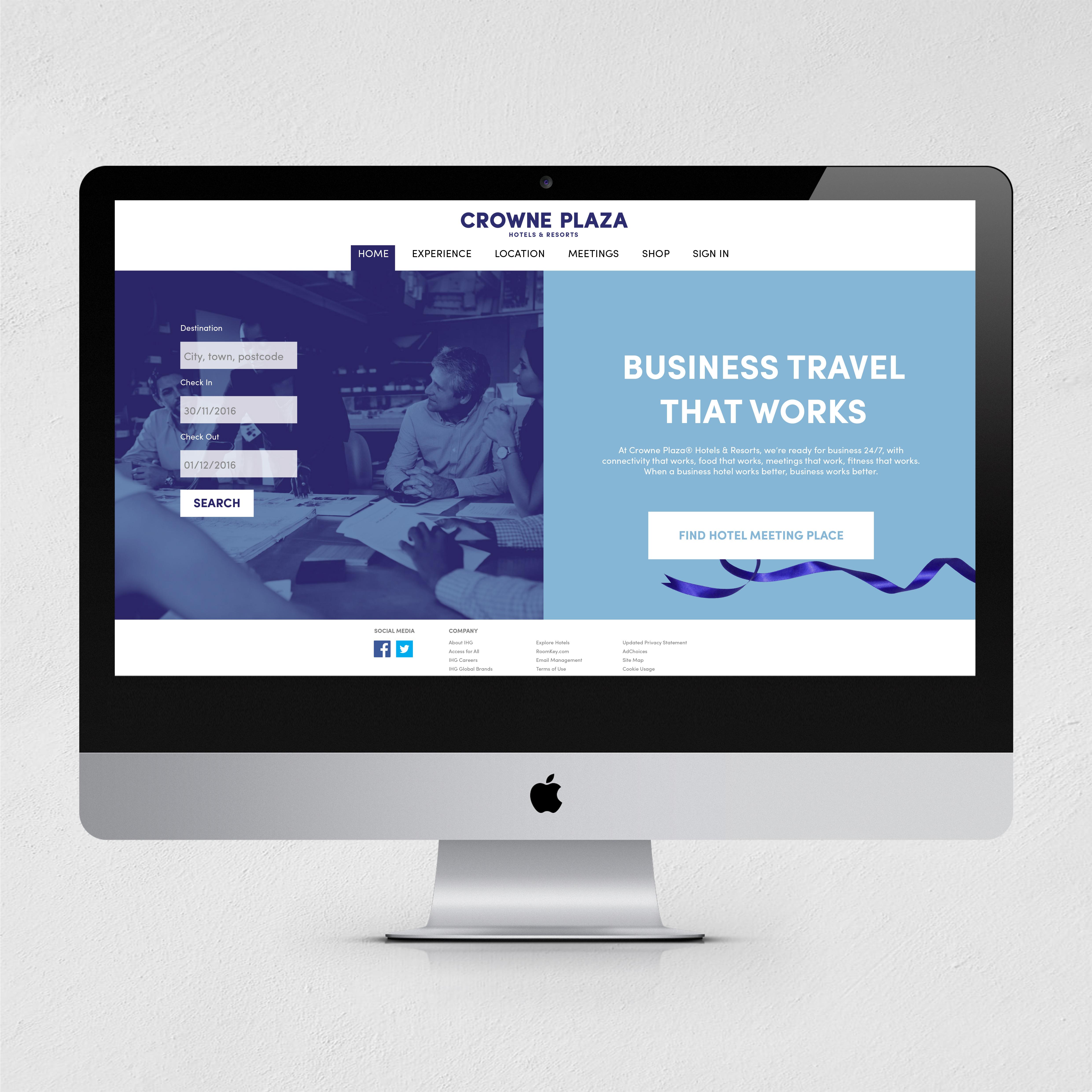 crowne plaza website