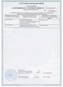 Задвижка ТИС: Приложение №2 к сертификату