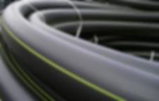 Трубы полиэтиленовые для газопровода - желтая маркировочная полоса