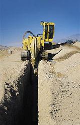 Подготовим траншею для наружного трубопровода