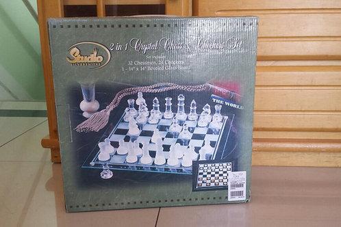 Jogo de Xadrez de Cristal