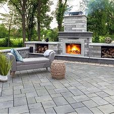 hardscape-fireplace-grey-stone-paver-pat