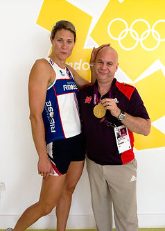 Nick Parading Olympic Gold with Susan Francesca US Rower
