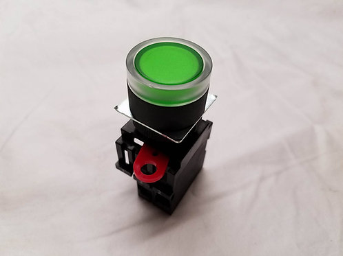 EE-0007 Panel Button, 22mm, Green, Illuminated