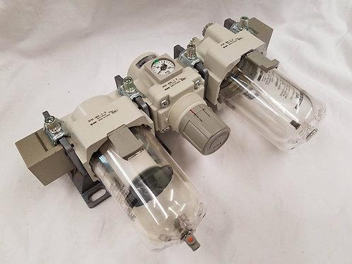 PE-0001 SMC Filter Regulator Lubricator Trio