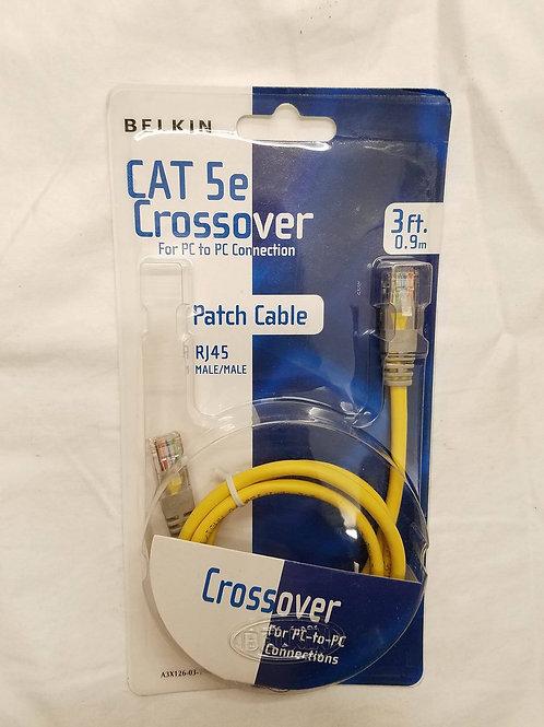 CE-0013 Cat 5E Crossover Cable 3'
