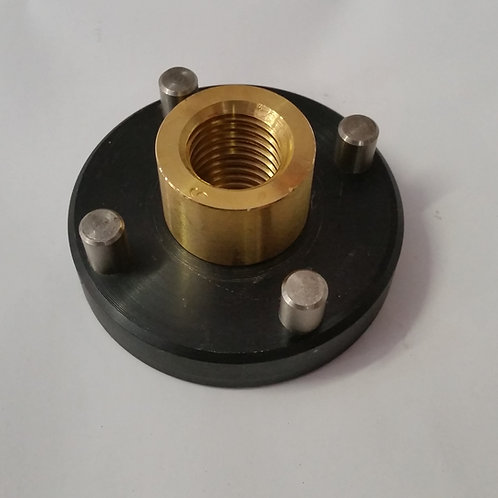 "RJ-0001-4 Acme Nut 3/4-10"" and Flange and Locating Pins (XL-Saw & 1300 Z-Axis)"