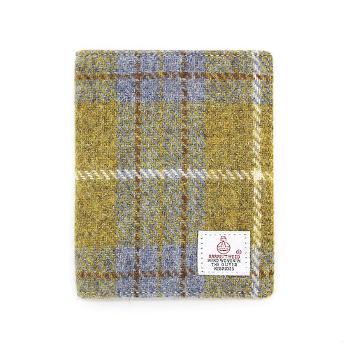 Harris Tweed Passport Holder Yellow