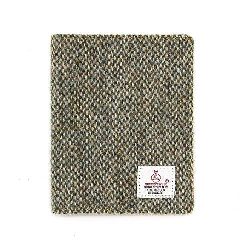 Harris Tweed Passport Holder Light Brown