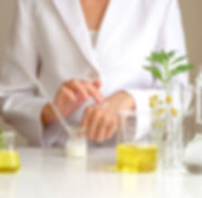 the scientist,dermatologist testing the