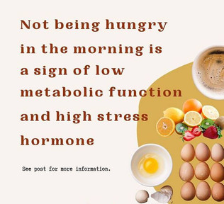 Not being hungry in the morning is a sign of low metabolic function
