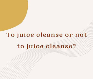 """Why juice """"cleansing"""" isn't beneficial"""