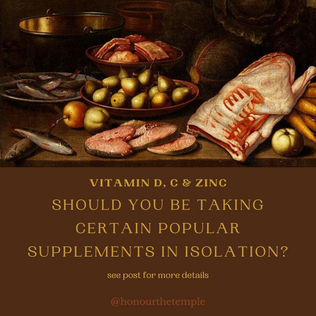 Isolated Vitamins - are they are a good idea?