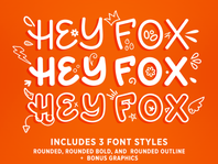 Introducing HEY FOX Rounded Font Trio!