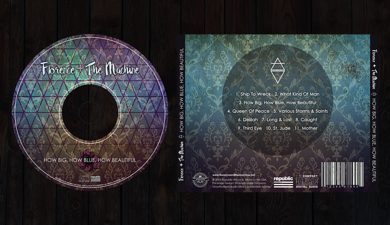 CD Design and Back of Case Insert