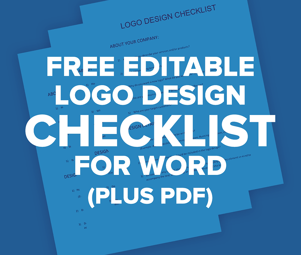 FREE Editable Logo Design Checklist for Word (Plus PDF)