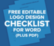 Free Editable Logo Design Checklist For Word (and PDF)