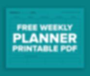 Free Weekly Planner Printable PDF
