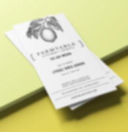 Farmtable Kitchen & Spirits To-Go Menu Design